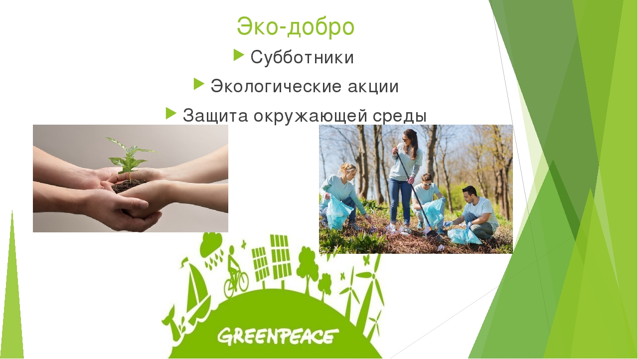 Эко-добро Субботники Экологические акции Защита окружающей среды