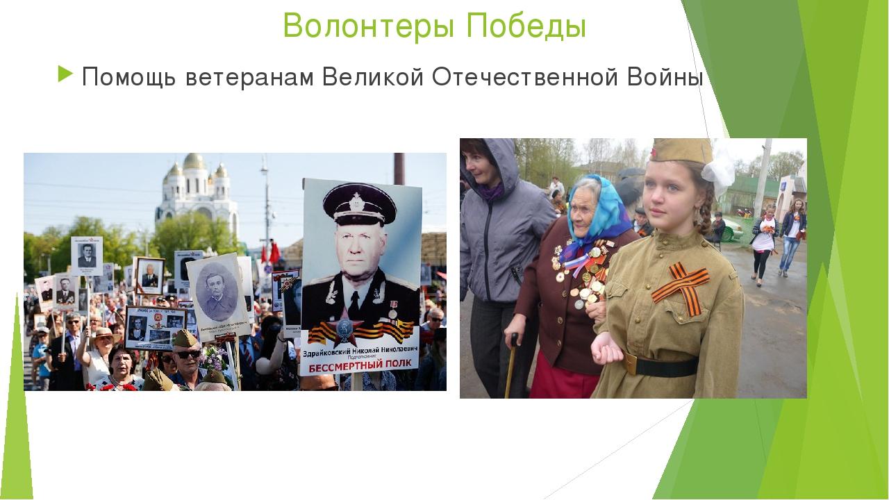 Волонтеры Победы Помощь ветеранам Великой Отечественной Войны