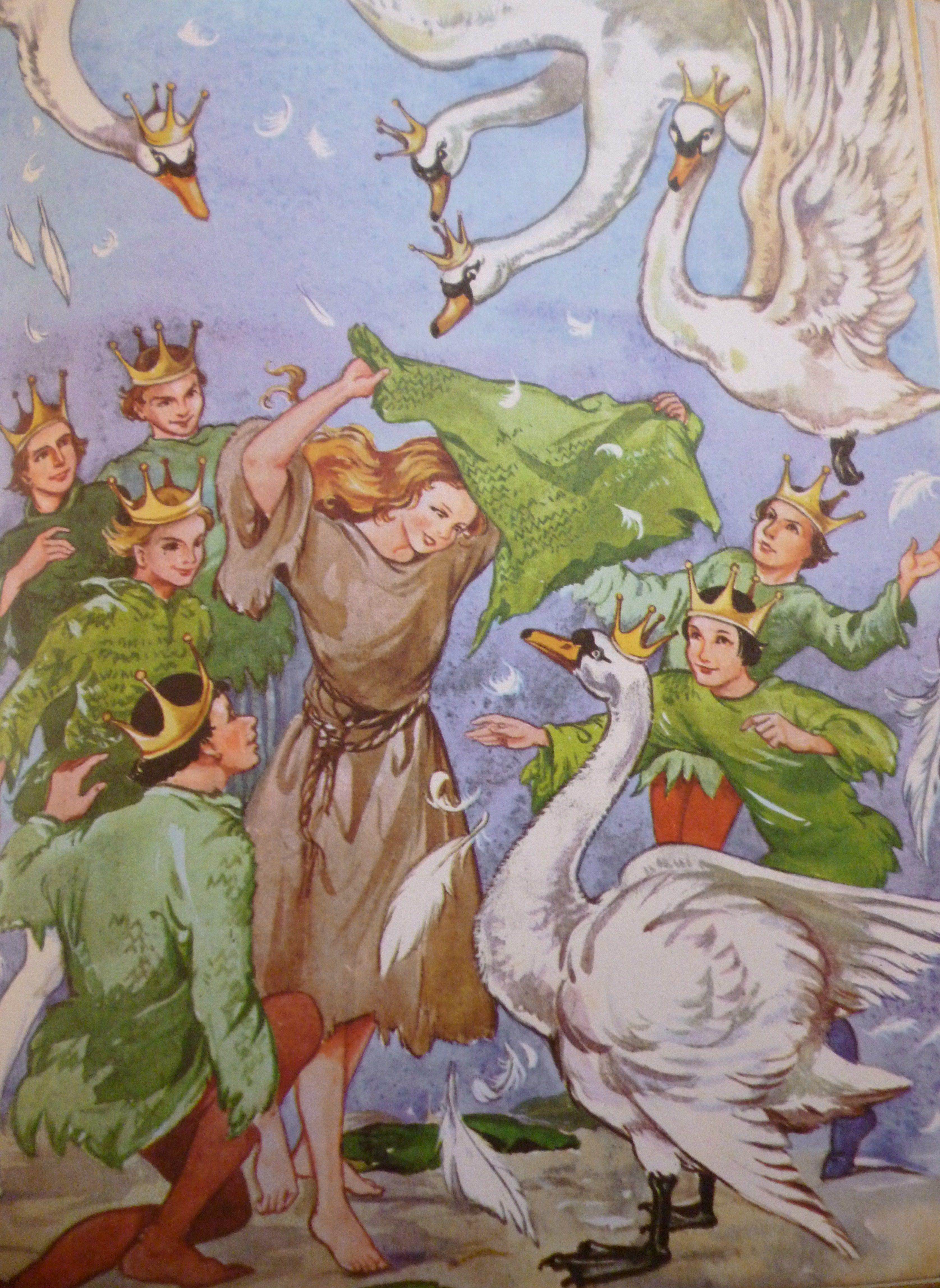 жилом иллюстрации к сказке шесть лебедей конструкции напрямую