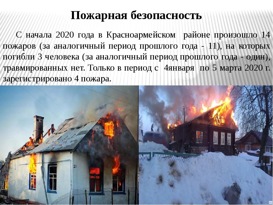 С начала 2020 года в Красноармейском районе произошло 14 пожаров (за аналоги...