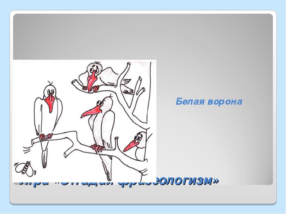Фразеологизм белая ворона картинки