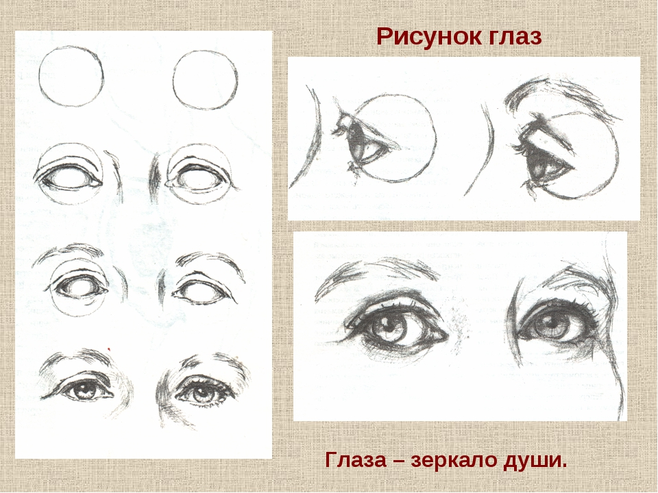 Рисунок глаз Глаза – зеркало души.