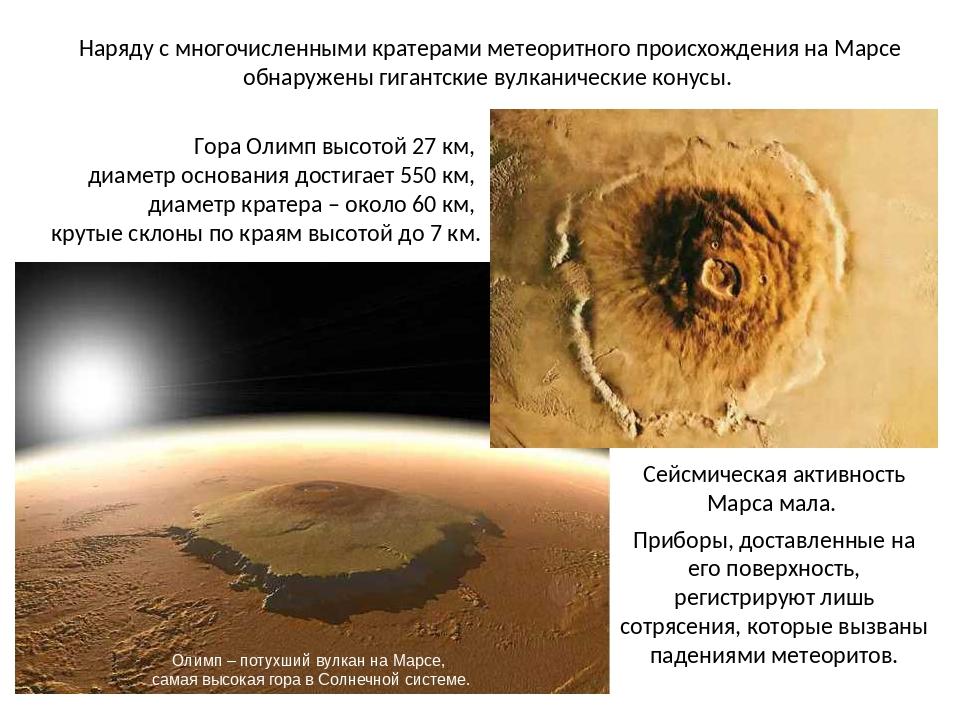 Наряду с многочисленными кратерами метеоритного происхождения на Марсе обнару...