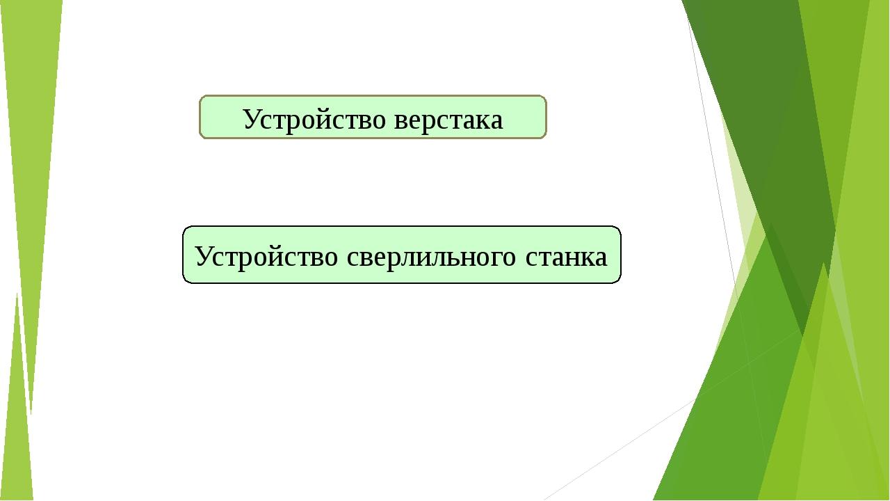 Устройство верстака Устройство сверлильного станка