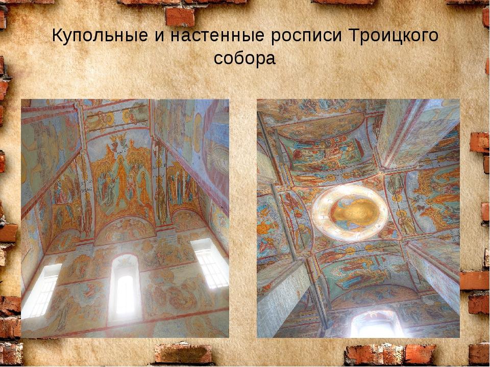 Купольные и настенные росписи Троицкого собора