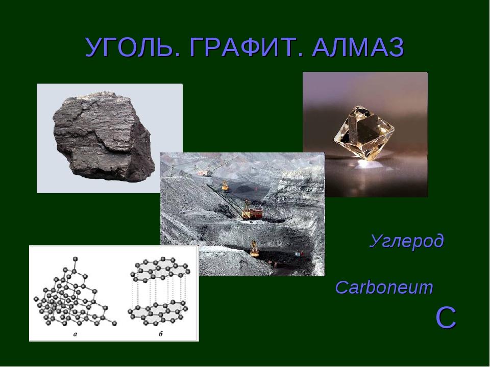 УГОЛЬ. ГРАФИТ. АЛМАЗ Carboneum C Углерод