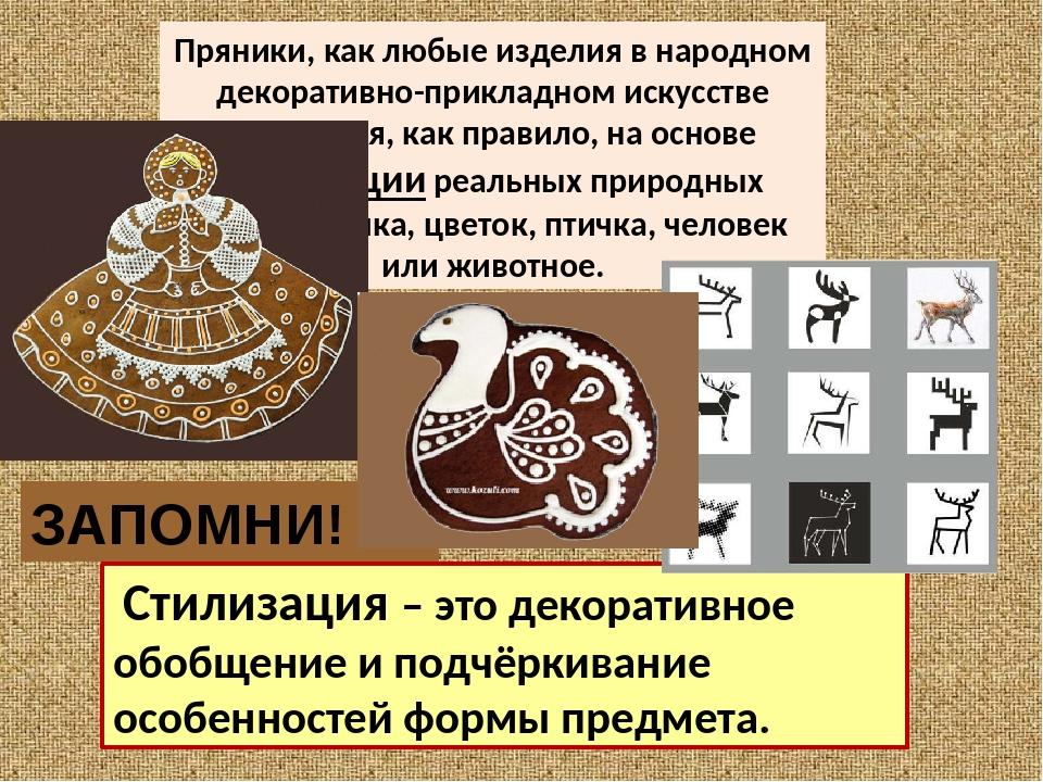 Пряники, как любые изделия в народном декоративно-прикладном искусстве создаю...