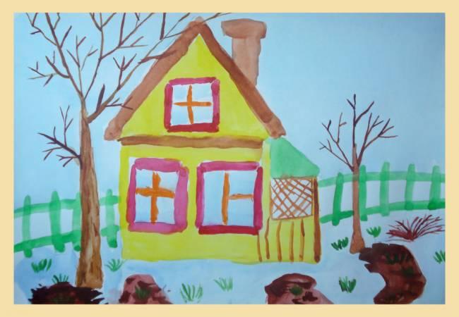 Картинки дом в котором я живу средняя группа, ночи всем