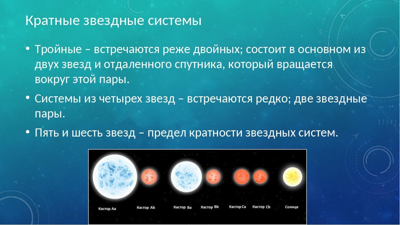Кратные звездные системы Тройные – встречаются реже двойных; состоит в основн...