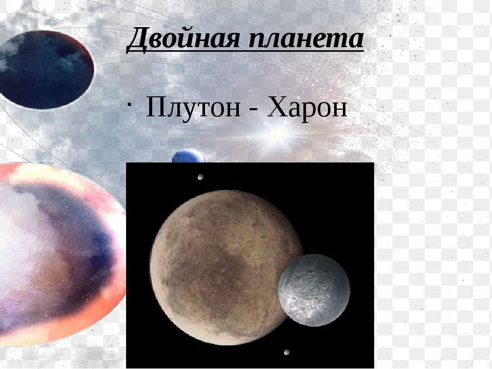 Двойная планета Плутон - Харон