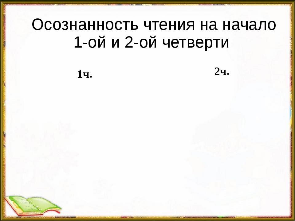 Осознанность чтения на начало 1-ой и 2-ой четверти