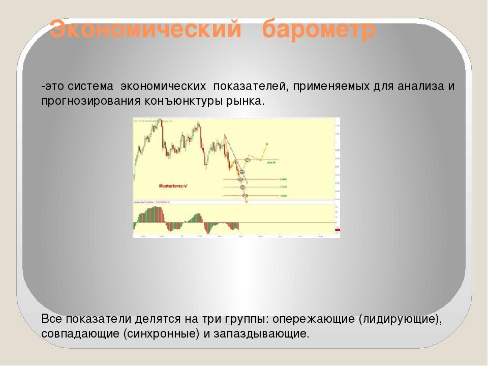 Экономический барометр -это система экономических показателей, применяемых дл...