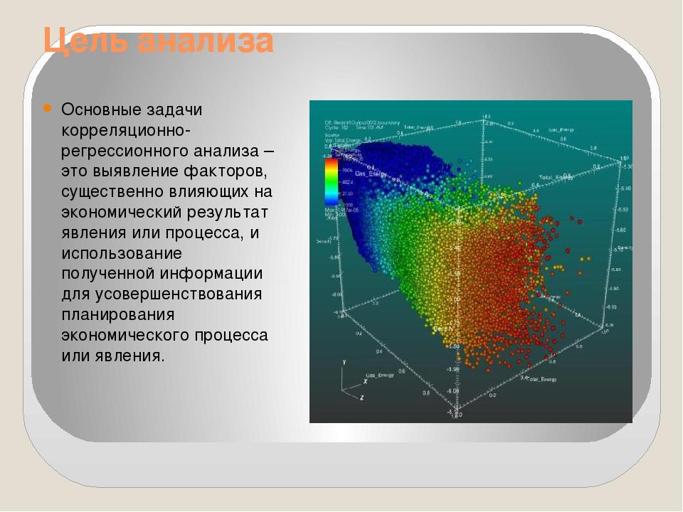 Цель анализа Основные задачи корреляционно-регрессионного анализа – это выявл...