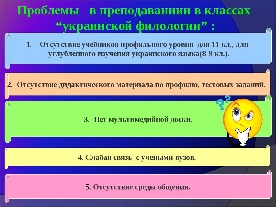 """Проблемы в преподаваниии в классах """"украинской филологии"""" : 2. Отсутствие дид..."""