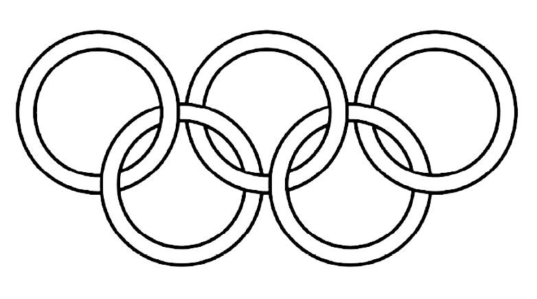 Олимпийские кольца шаблон раскраска