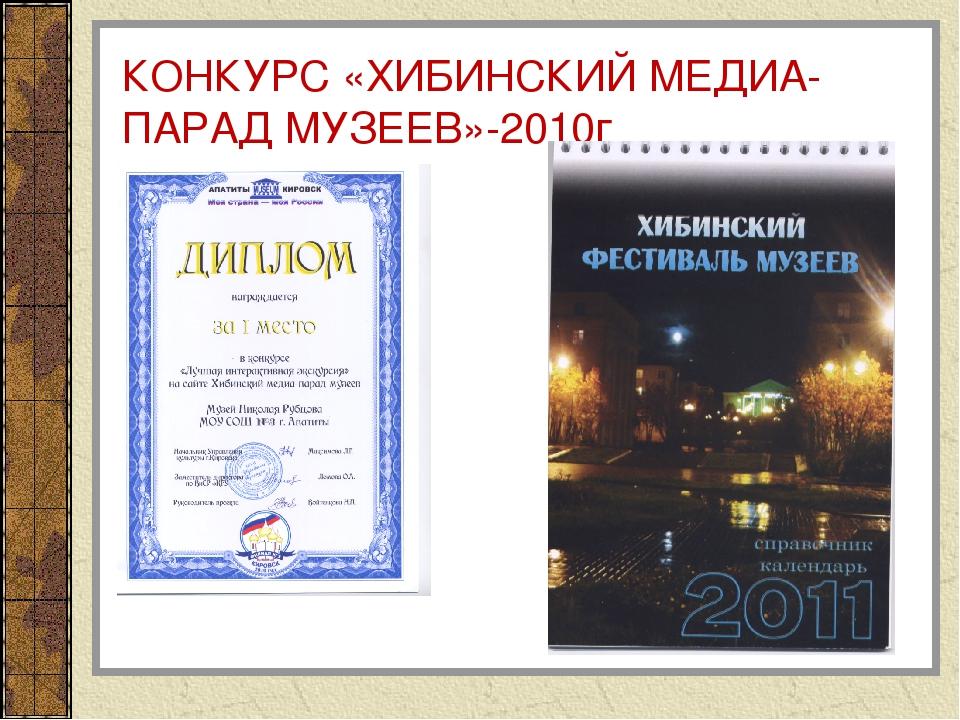 КОНКУРС «ХИБИНСКИЙ МЕДИА-ПАРАД МУЗЕЕВ»-2010г
