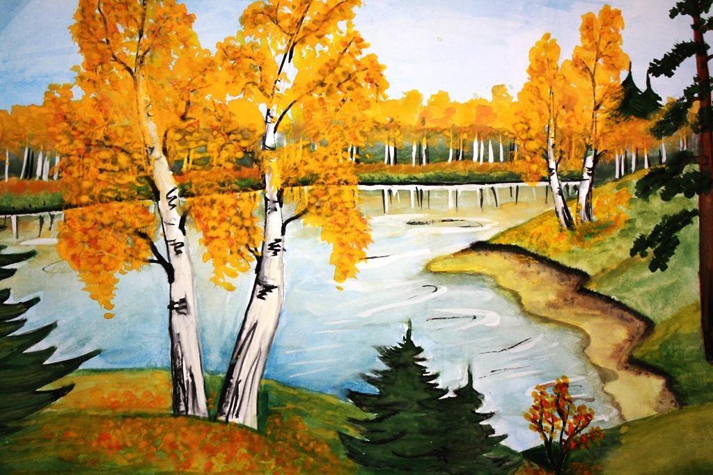 Рисунки на тему осень картинки