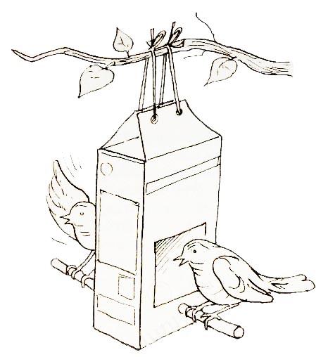 рисунок птицы на кормушке зимой карандашом строительства рябиновый