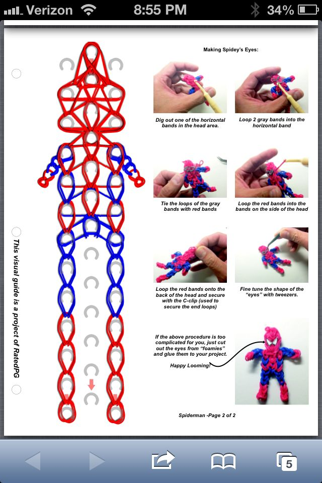 Картинки схемы плетения фигурок из резиночек
