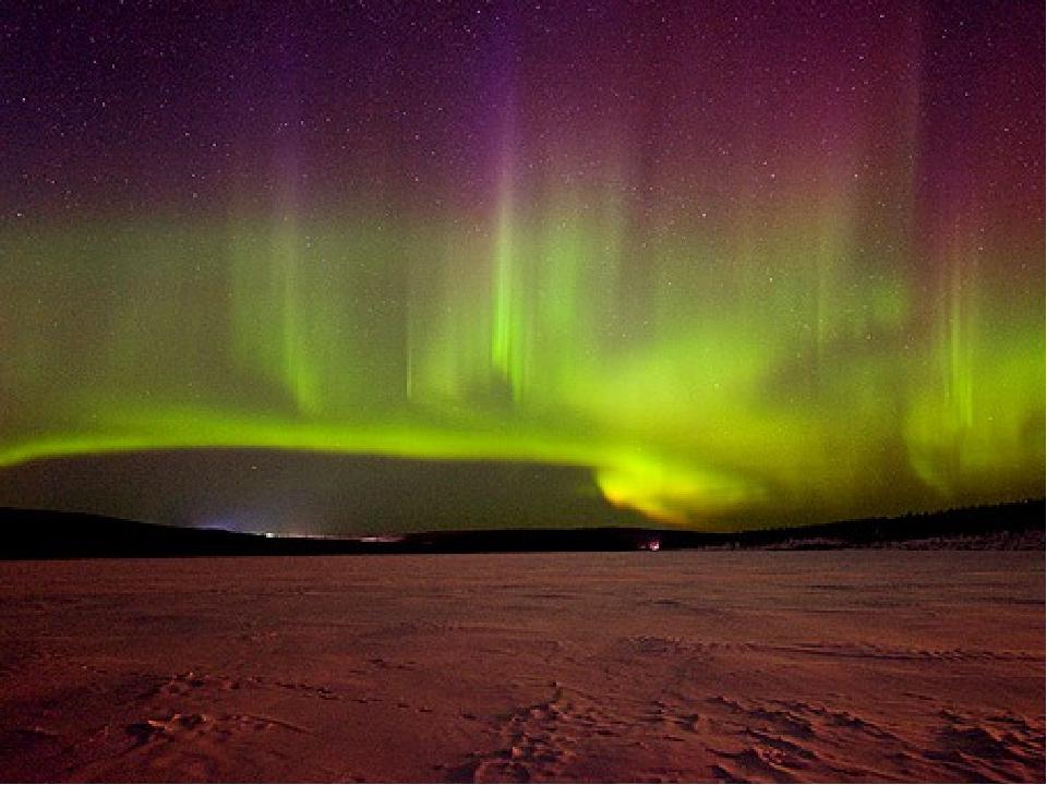 фото северного сияния в тундре долгожданной ночи
