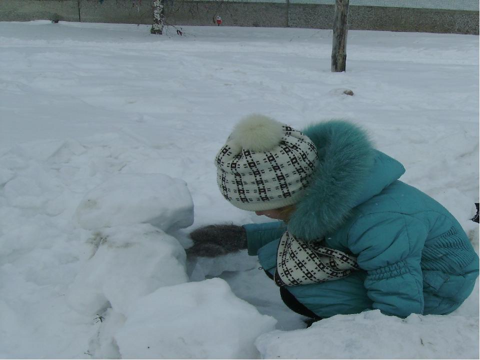 3 секрет: Щели между уложенными глыбами затирают снегом, чтобы сохранить вну...