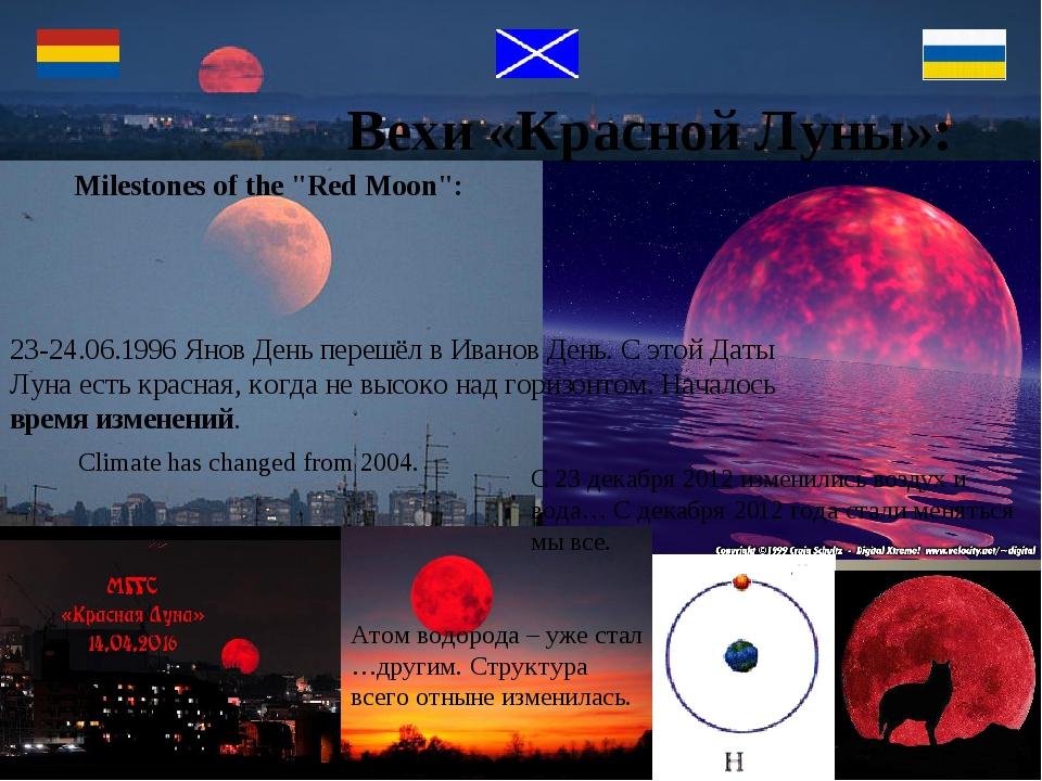 """Milestones of the """"Red Moon"""": 23-24.06.1996 Янов День перешёл в Иванов День...."""