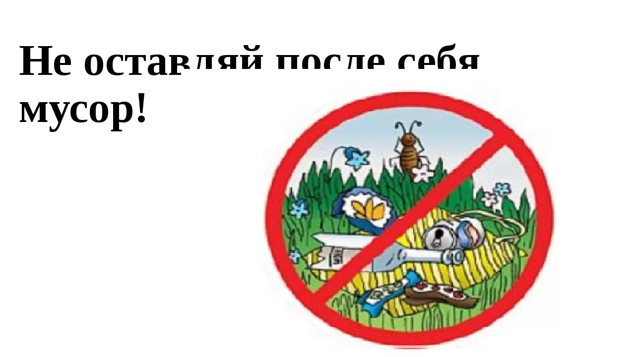 Не оставляй после себя мусор!