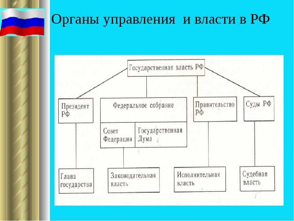 Органы управления и власти в РФ