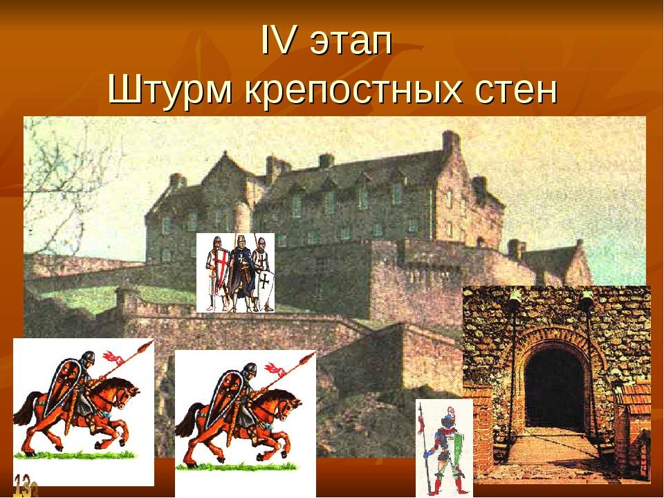 IV этап Штурм крепостных стен