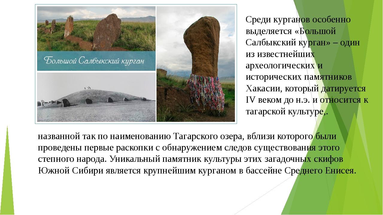 Среди курганов особенно выделяется «Большой Салбыкский курган» – один из изве...
