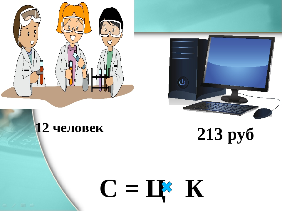 213 руб 12 человек С = Ц К