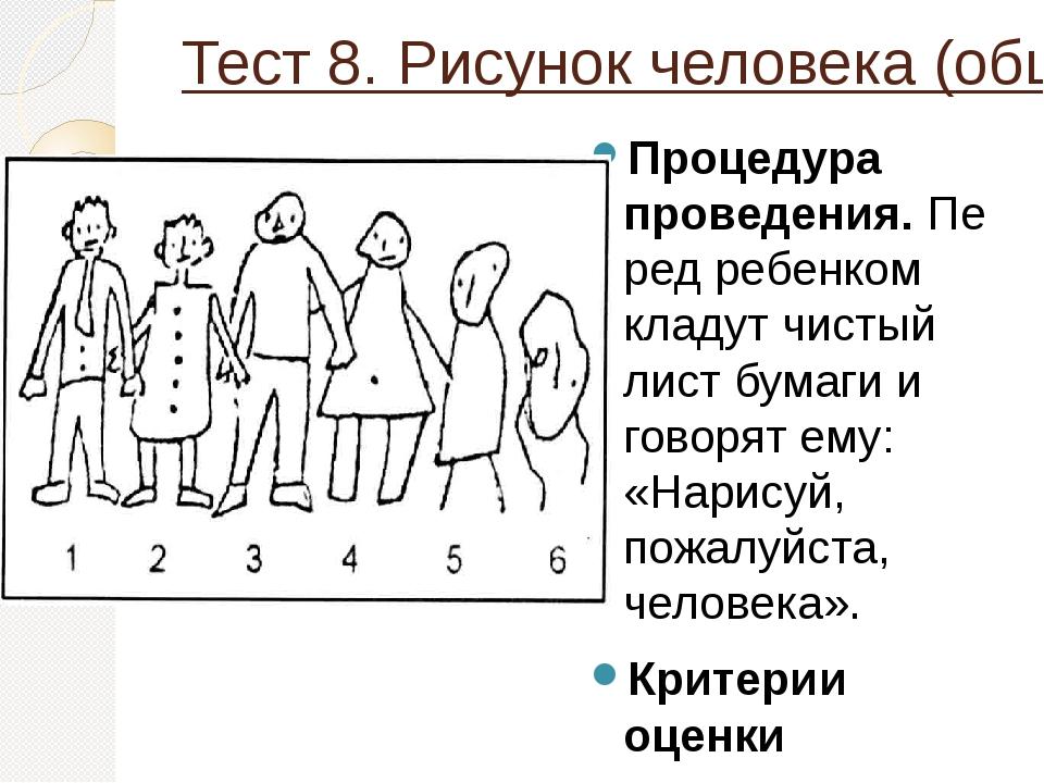 Психологический тест рисунок человека
