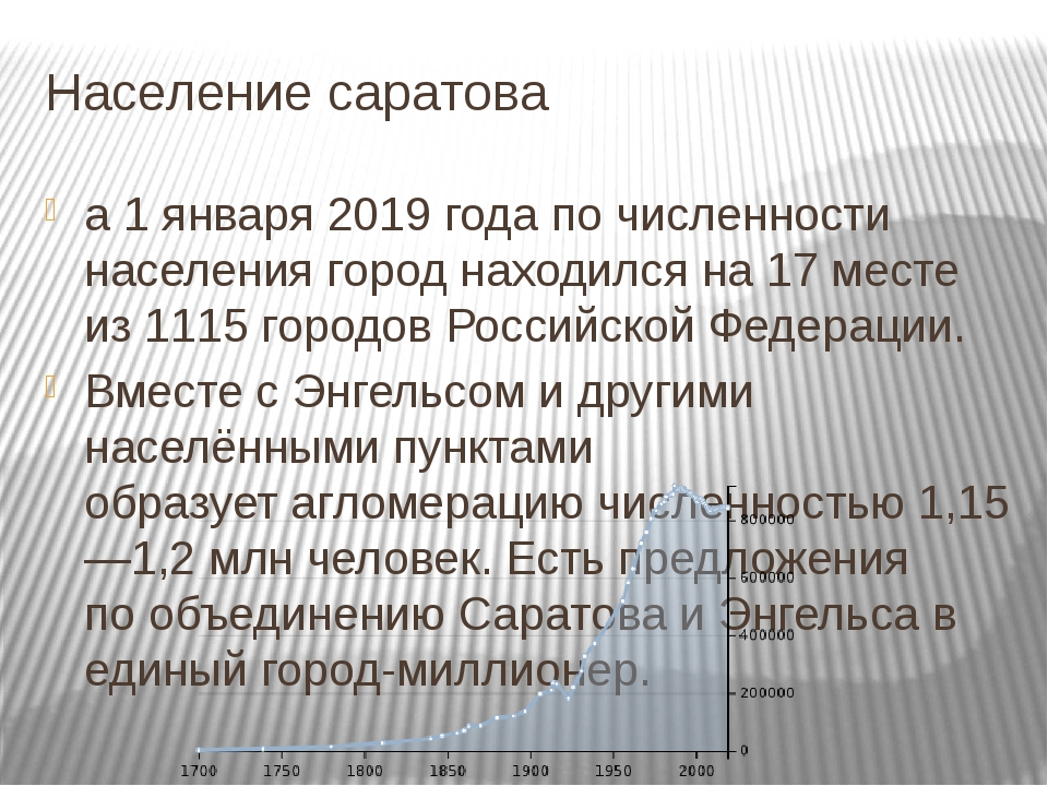 Население саратова а 1 января 2019 года по численности населения город находи...