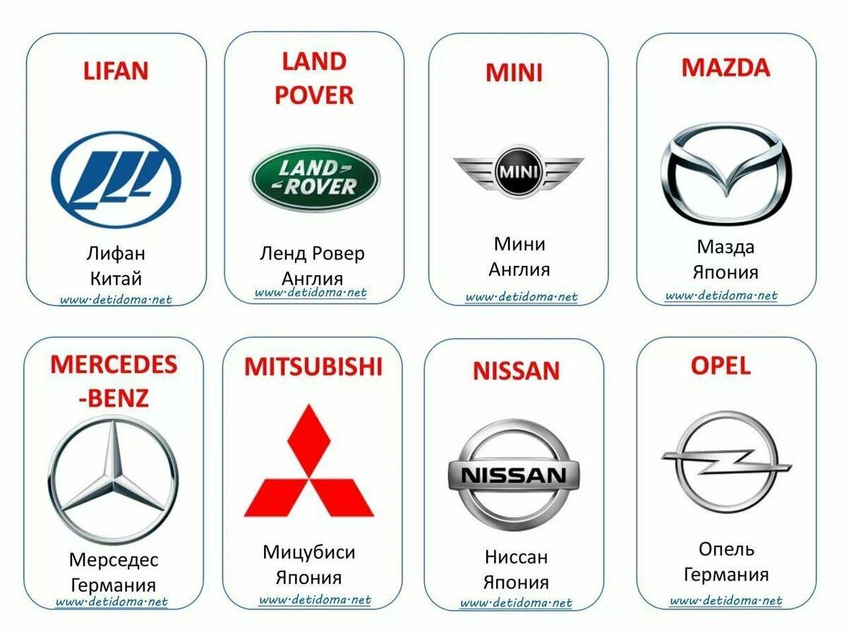 логотипы автомашин на картинках и их названия лежневой вокальном мире