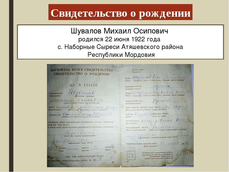 Шувалов Михаил Осипович родился 22 июня 1922 года с. Наборные Сыреси Атяшевск...