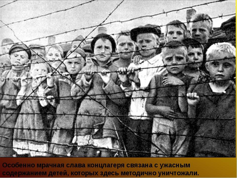 Особенно мрачная слава концлагеря связана с ужасным содержанием детей, которы...