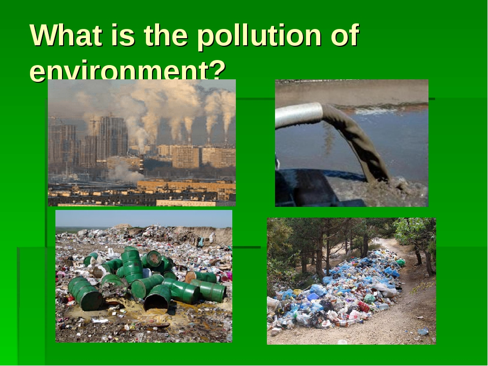 What is the pollution of environment?