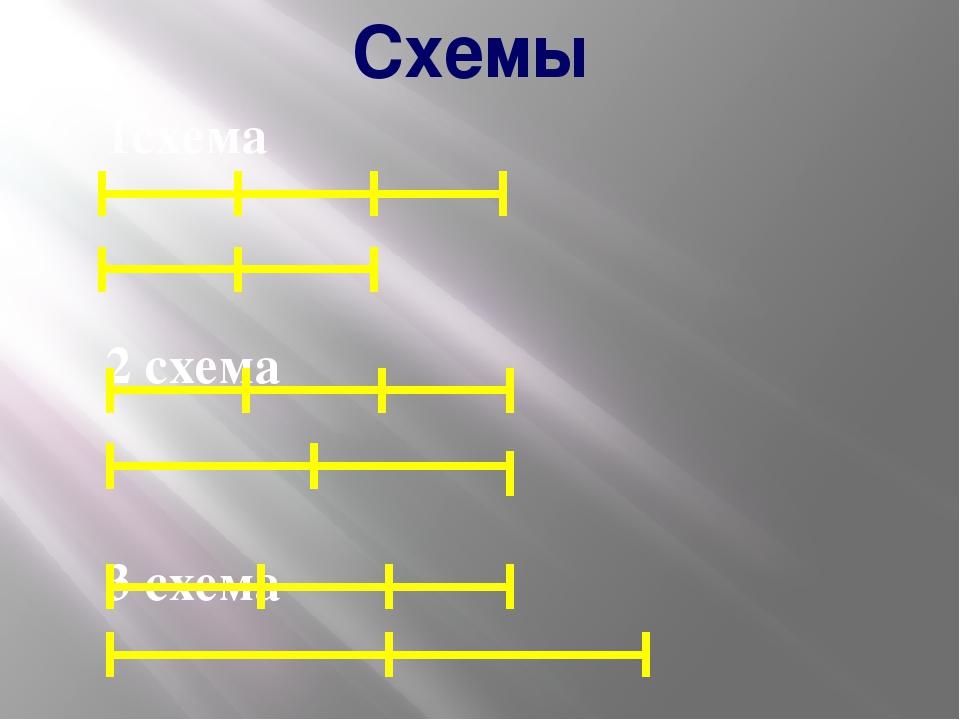 Схемы 1схема 2 схема 3 схема