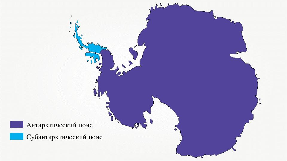 Антарктический пояс Субантарктический пояс