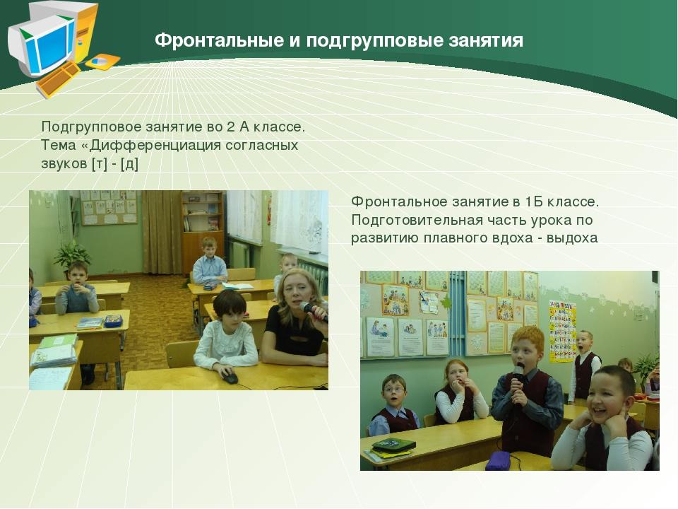 Фронтальные и подгрупповые занятия Подгрупповое занятие во 2 А классе. Тема «...