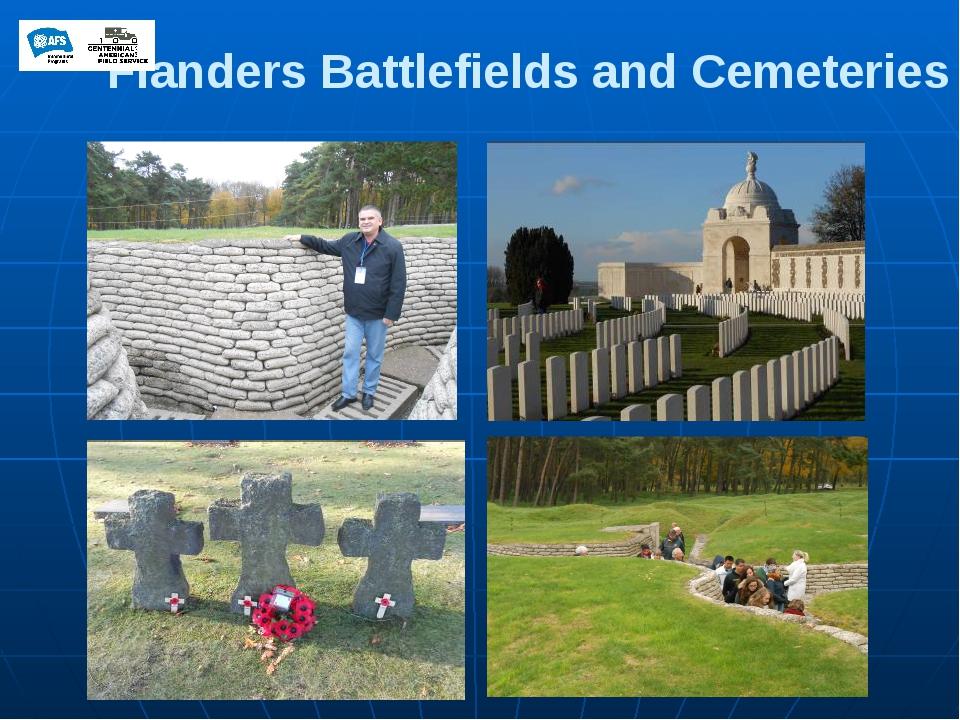 Flanders Battlefields and Cemeteries