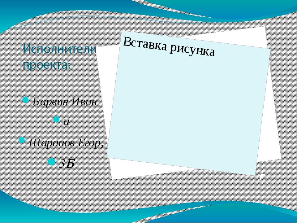 Исполнители проекта: Барвин Иван и Шарапов Егор, 3Б