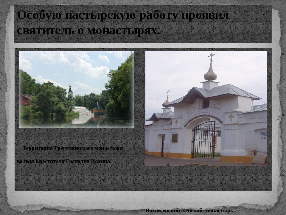 Территория Трегуляевского монастыря во имя Крестителя Господня Иоанна. Возне...
