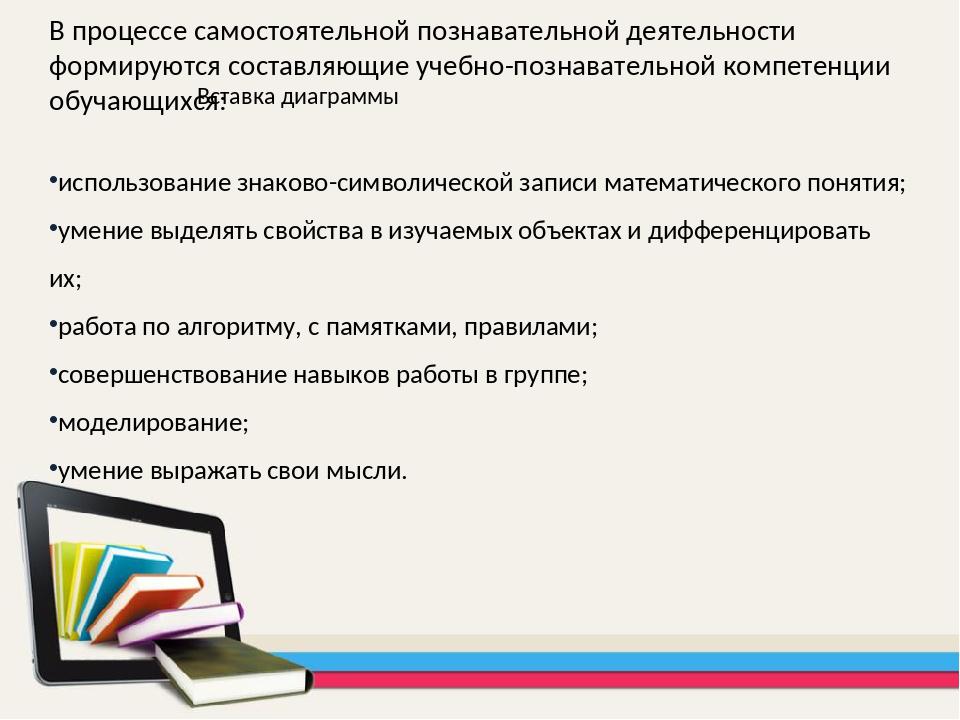 В процессе самостоятельной познавательной деятельности формируются составляющ...