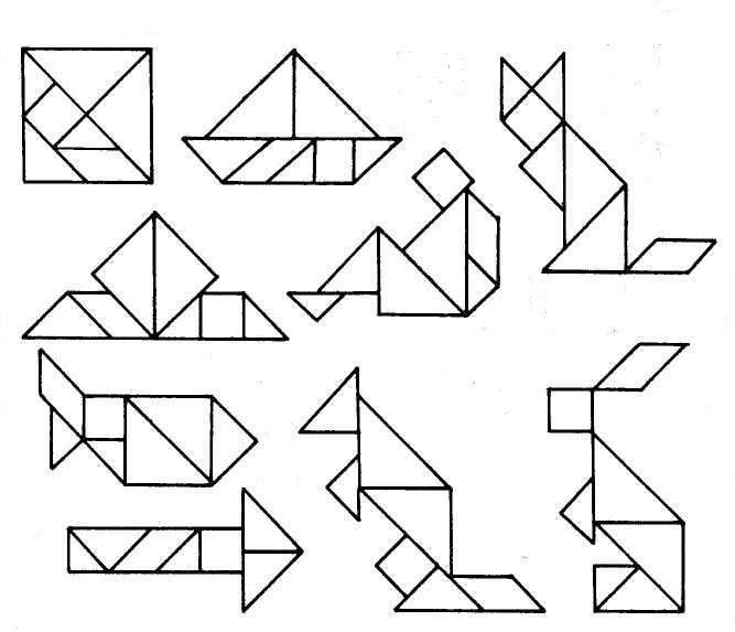 кола головоломки в картинках и схемах вариант
