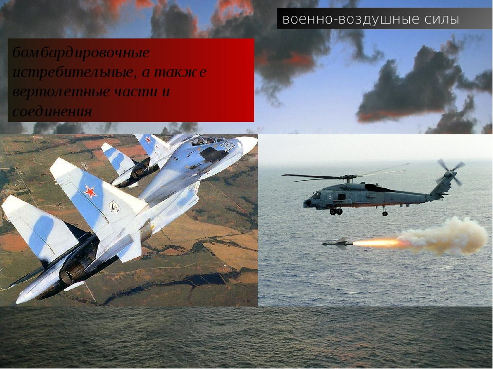 военно-воздушные силы бомбардировочные истребительные, а также вертолетные ча...