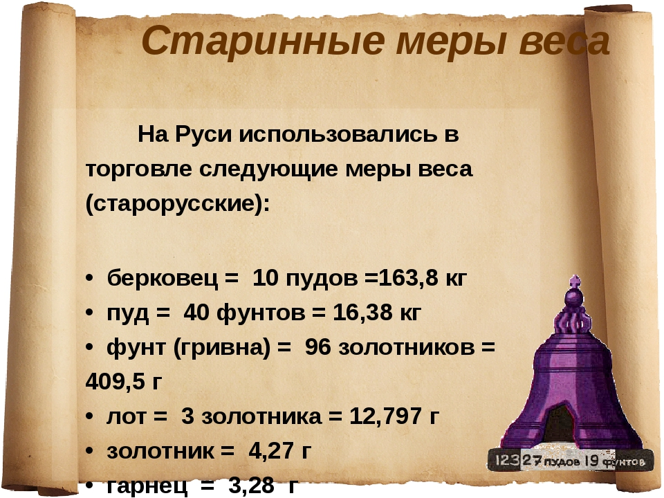старинные меры веса объема картинки башня один самых