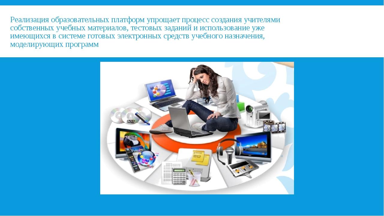 Реализация образовательных платформ упрощает процесс создания учителями собст...