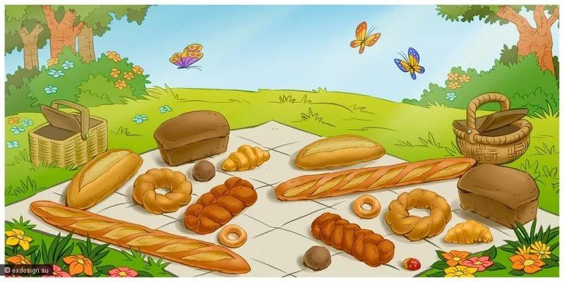 картинки о хлебе для малышей поздравления днем рождения