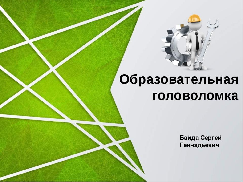 Образовательная головоломка Байда Сергей Геннадьевич